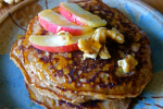 grain free apple walnut pancakes