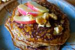 grain free apple walnut pancakes
