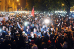 Thousands in Budapest took to the streets Sunday night to protest a proposed taxation on internet providers, based upon the amount of data served.